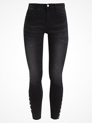 Only ONLCARMEN Jeans Skinny Fit dark grey denim