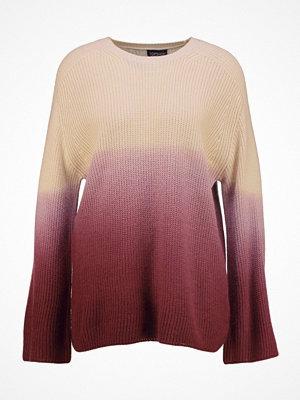 Topshop DIP DYE WIDE SLEEVE  Stickad tröja burgundy