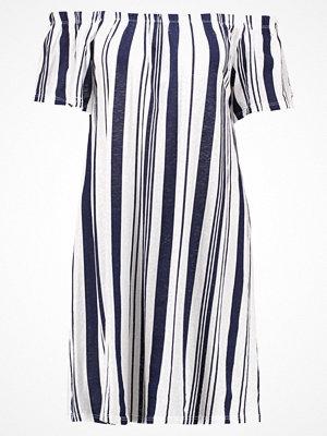 Topshop STRIPE BARDOT     Jerseyklänning navyblue