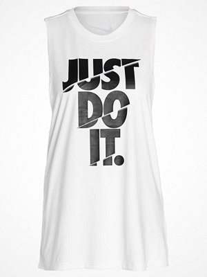 Nike Performance DRY TANK MUSCLE Funktionströja white/black