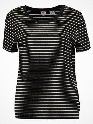 Levi's® PERFECT POCKET Tshirt med tryck jet black/gold