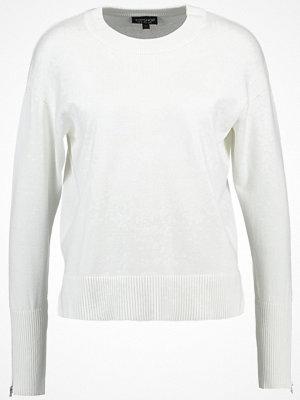 Topshop CUFF ZIP  Stickad tröja white