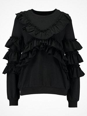 Even&Odd EXTREME RUFFLE SWEATER Sweatshirt black