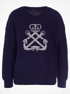 Polo Ralph Lauren EMBELLISHED Stickad tröja navy