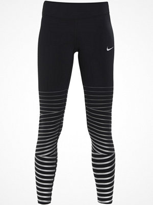 Nike Performance POWER FLASH EPIC LUX Tights black/anthracite/reflective silver