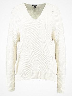 Topshop LADDER STITCH  Stickad tröja off white