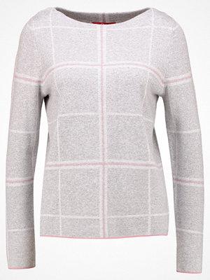 s.Oliver RED LABEL Stickad tröja grey melange check