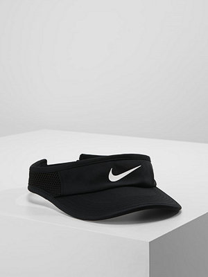 Kepsar - Nike Performance AEROBILL FEATHERLIGHT VISOR ADJUSTABLE Keps black/white