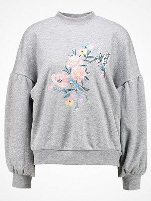 Even&Odd EMBROIDERED SWEATSHIRT Sweatshirt mottled grey