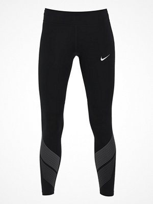 Nike Performance POWER FLASH RACER Tights black/reflective silver