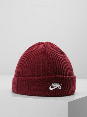 Mössor - Nike Sb FISHERMAN BEANIE Mössa dark team red/white
