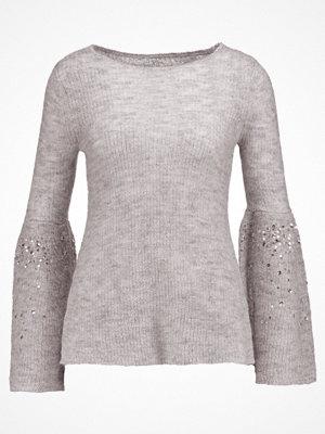 Mint Velvet SEQUIN SLEEVE Stickad tröja silver grey marl