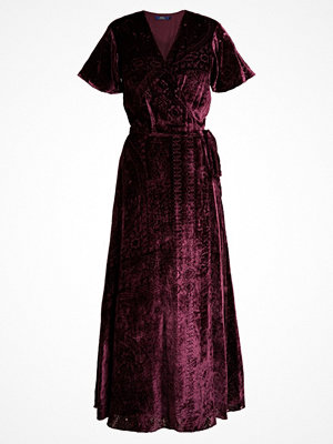 Polo Ralph Lauren BURNOUT VELVET Maxiklänning maroon