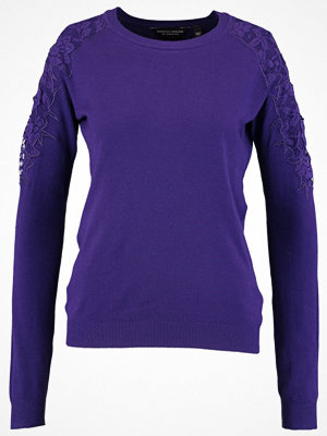 Dorothy Perkins COLD SHOULDER Stickad tröja purple