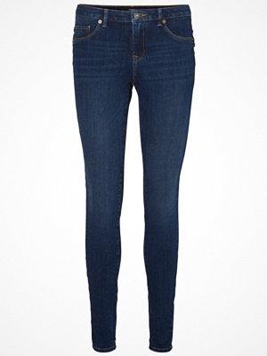 Vero Moda PUSH UP Jeans Skinny Fit dark blue denim