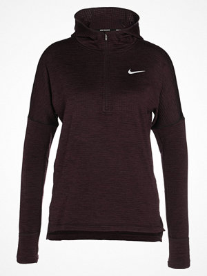 Nike Performance HOODIE Sweatshirt port wine/heather/silver