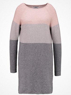 Only ONLLILY  Stickad klänning mahogany rose/w melange/light grey