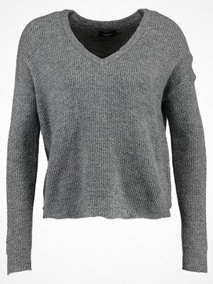 Only ONLCELIA  Stickad tröja dark grey melange