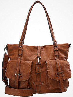 Tamaris brun shopper Shoppingväska cognac