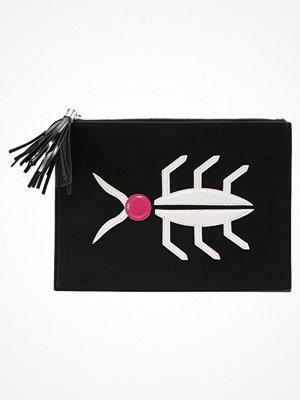 Only ONLDINA Kuvertväska black/white/pink svart med tryck