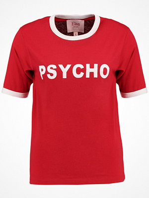 Bik Bok ELSA HOSK PSCYCHO  Tshirt med tryck red