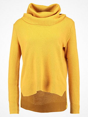 Benetton TURTLE NECK Stickad tröja yellow