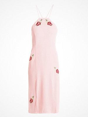 Topshop EMBROIDERD Sommarklänning pink