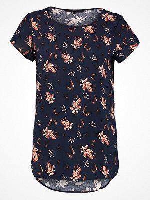 Vero Moda VMMIXY FOIL TOP Tshirt med tryck navy blazer