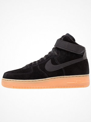 Nike Sportswear AIR FORCE 1 HIGH 07 LV8 SUEDE Höga sneakers black/medium brown/ivory
