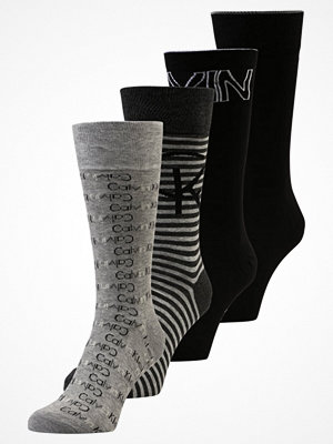 Strumpor - Calvin Klein Underwear FARREL 4 PACK Strumpor black grey