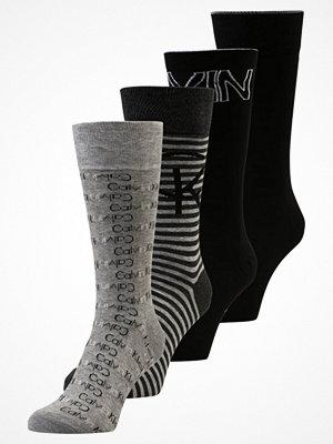 Calvin Klein Underwear FARREL 4 PACK Strumpor black grey