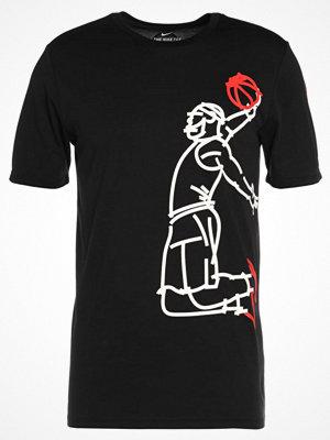 Sportkläder - Nike Performance FAMOUS Tshirt med tryck black/black