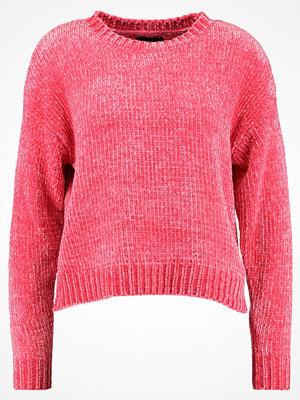 New Look CHENILLE CROP  Stickad tröja bright pink