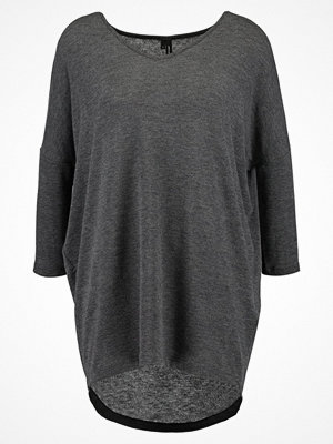 Vero Moda VMHONEY LONG  Stickad tröja dark grey melange