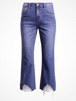Steve J & Yoni P / SJYP HEM DESTROYED WIDE Jeans bootcut dark blue