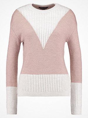 Dorothy Perkins CHEVRON Stickad tröja ivory/pink