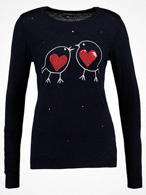 Dorothy Perkins SEQUIN HEART ROBIN Stickad tröja navy
