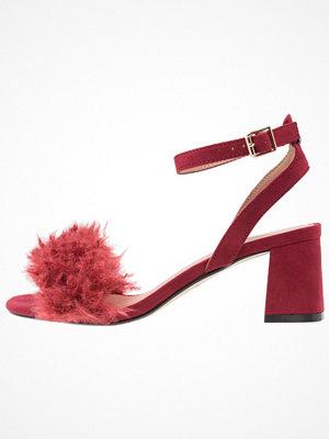 Topshop DOODLE MID Sandaler & sandaletter burgundy