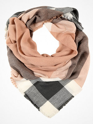 Only ONLALDINA CHECK SCARF Scarf cloud dancer/grey/rose