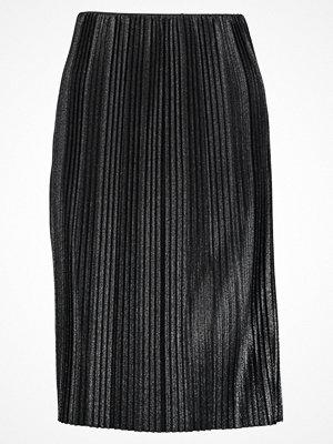 Anna Field Veckad kjol black/silver