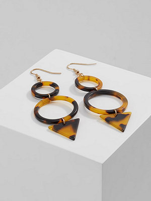 Topshop RESIN CIRCLE TRIANGLE DROP Halsband goldcoloured