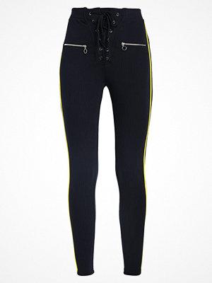 Missguided STRIPE  Leggings black