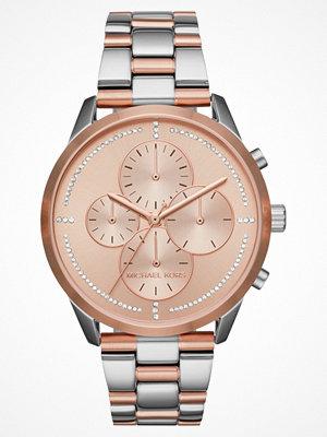 Klockor - Michael Kors SLATER Kronografklockor silvercoloured/roségoldcoloured