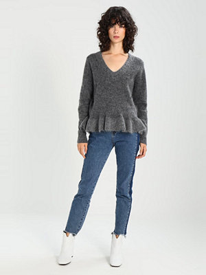 Selected Femme SFFINTA Stickad tröja medium grey melange