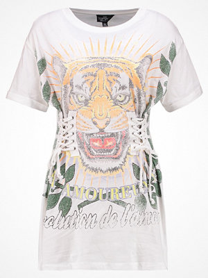 Topshop Petite TIGER CORSET  Tshirt med tryck white