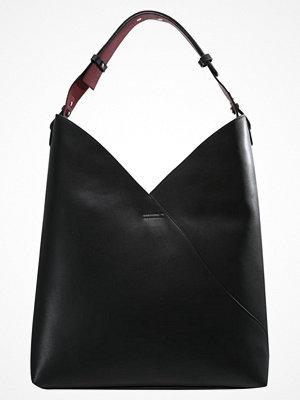 Topshop svart shopper ASSYMETRIC HOBO Shoppingväska black