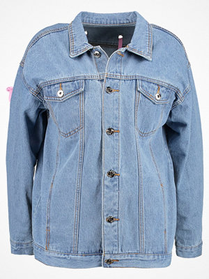 Liquor N Poker WITH EYELET AND LACE UP RIBBON Jeansjacka lightblue denim