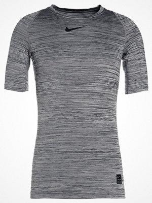 Sportkläder - Nike Performance PRO COMPRESSION HEATHER TOP Tshirt bas black/black/white