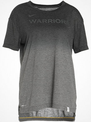 Nike Performance GOLDEN STATE WARRIORS Tshirt med tryck charcoal heather/black/amarillo