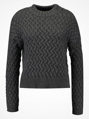 Even&Odd Stickad tröja dark grey melange